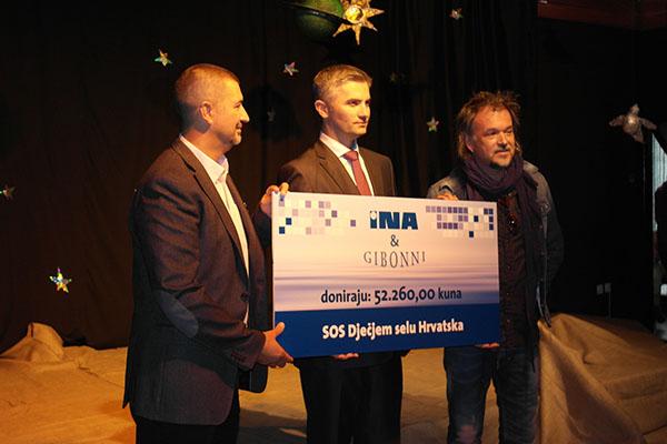 INA i Gibonni uručili donaciju SOS Dječjem selu Hrvatska