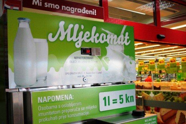 Mljekomat – siguran put do domaćeg sirovog mlijeka