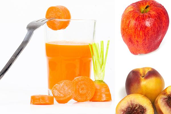 Domaći gusti sok od jabuke, breskve i mrkve