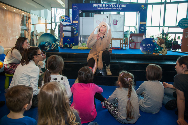 Nivea i Laboratorij zabave oduševili djecu u Avenue Mallu