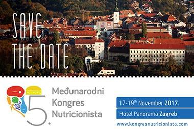 Peti Međunarodni Kongres Nutricionista održat će se u Zagrebu