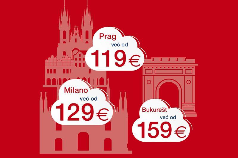 Croatia Airlines i u ožujku nudi putovanja po povoljnim cijenama