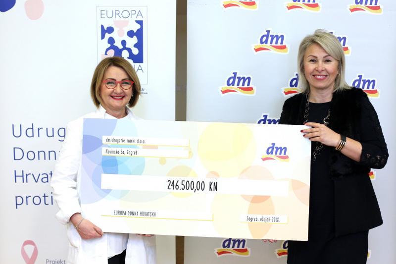 Preko 30.000 dm-ovih kupaca podržalo je udrugu Europa Donna Hrvatske