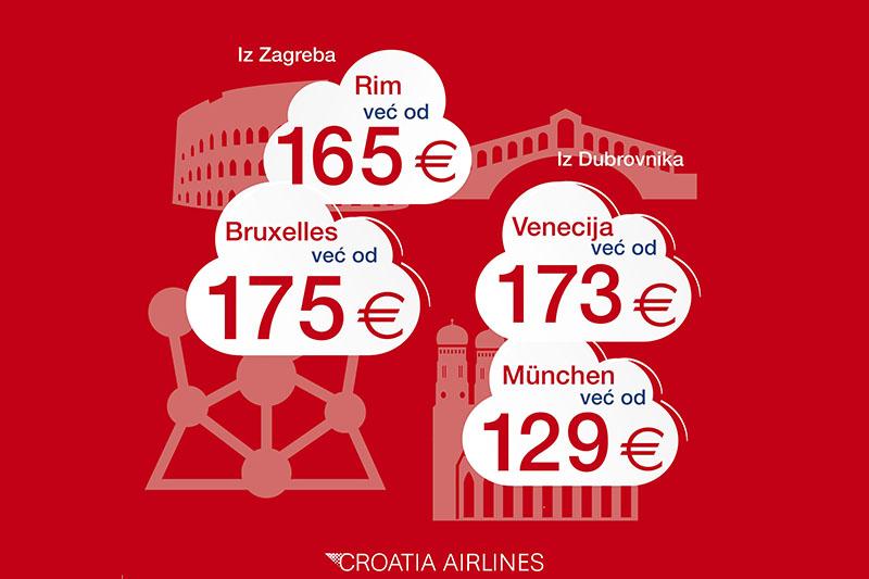 Uz akciju Pogledaj u oblake leti u Rim, Bruxelles, München i Veneciju