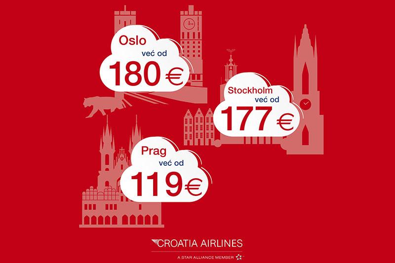 Otkrijte nove europske destinacije uz Croatia Airlines