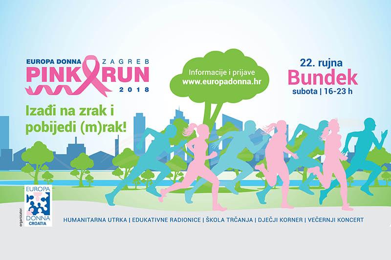 Europa Donna Zagreb Pink Run: humanitarna utrka kao najava za ružičasti mjesec