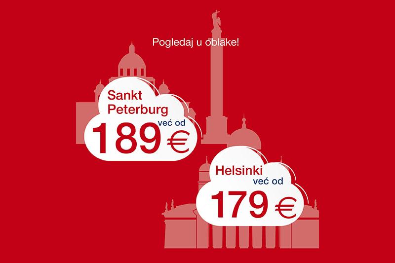 Uz akciju Croatia Airlinesa do Helsinkija i Sankt Peterburga