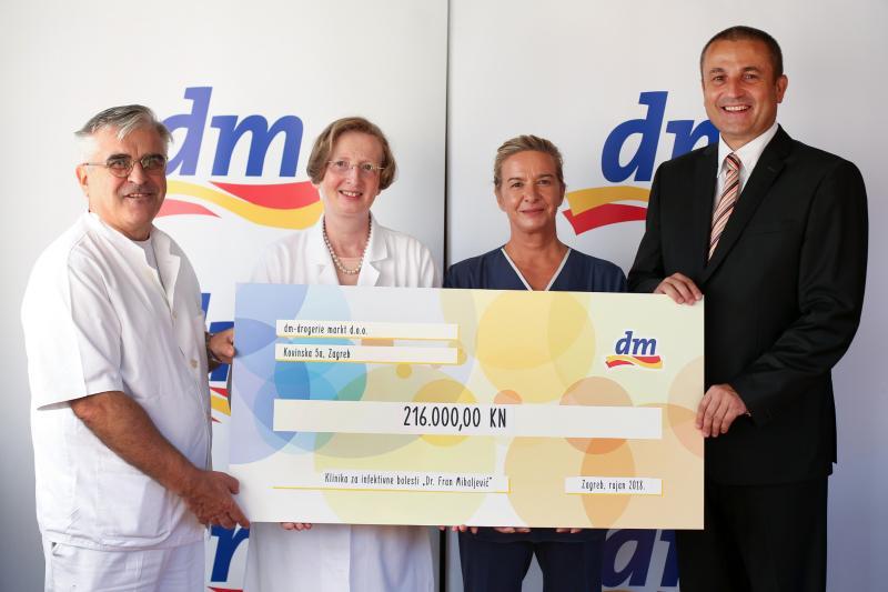 Donacija dm-a Klinici Dr. Fran Mihaljević omogućit će sigurnije liječenje najtežih bolesnika