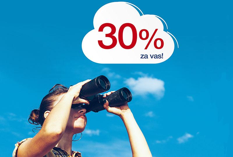 Croatia Airlines daruje 30 % popusta na sve aviokarte