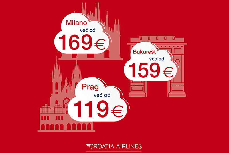 Prag, Bukurešt ili Milano? Do atraktivnih destinacija uz niže cijene aviokarata