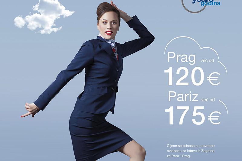 Posjeti Pariz i Prag: Croatia Airlines u svibnju ima posebnu rođendansku ponudu