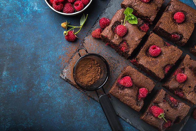 Maline i čokolada su idealna kombinacija za neodoljive bezglutenske brownieje