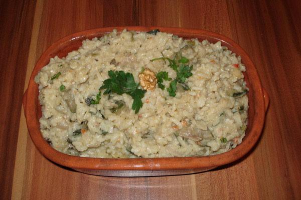 Jesenski rižoto s tikvicama i orasima