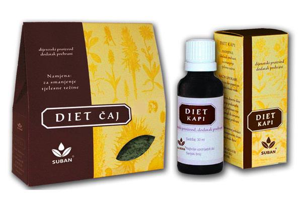 Diet čaj i kapi za uspješnu dijetu