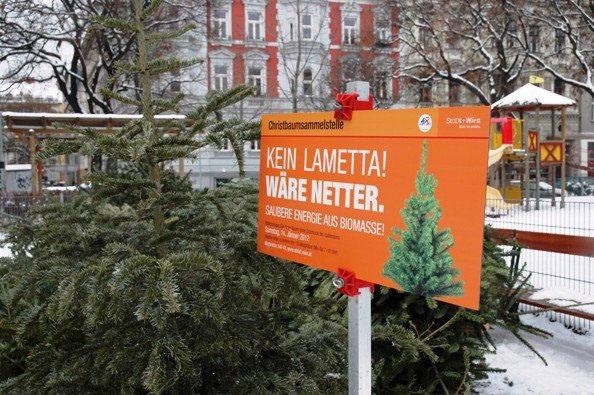 Odbačena bečka božićna drvca će grijati čak 3.000 stanova